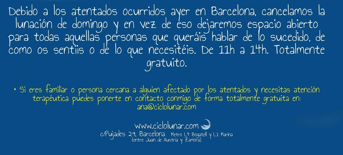 atentado barcelona atención terapéutica